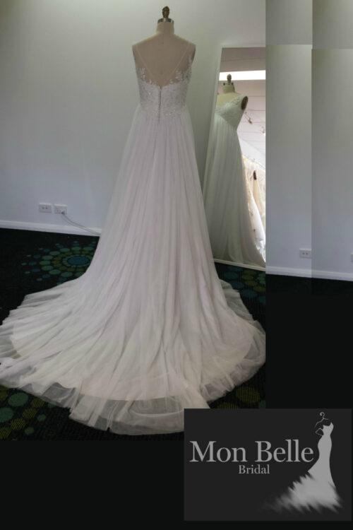 DEE custom design V back maternity wedding dress LL17028