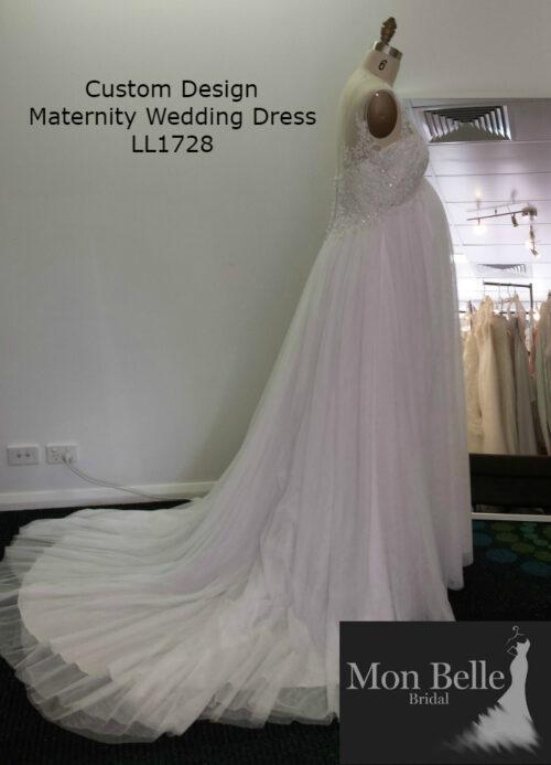 DEE custom design maternity wedding dress LL17028