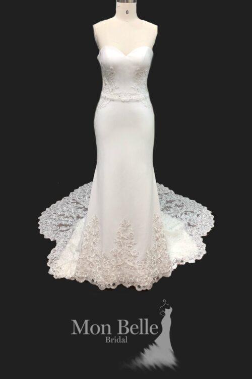 BEATRICE mermaid crepe wedding dress