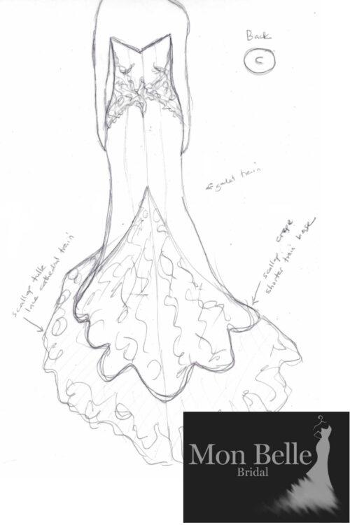 Beatrice Wedding Dress Back - Sketch C