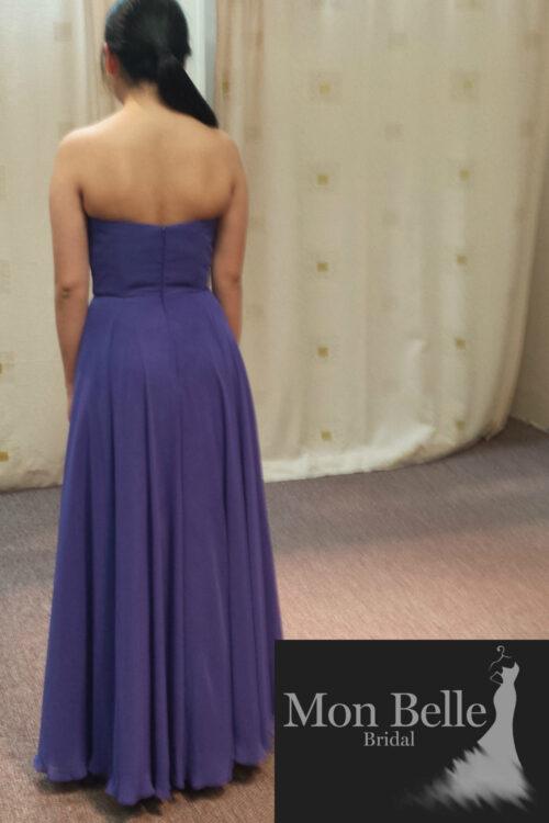 LL006 circle cut flowy skirt bridesmaid dress