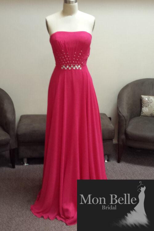 LL006 hot pink bridesmaid wedding dress