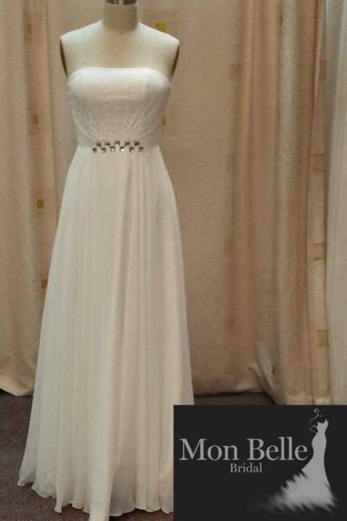 LL006 ivory bridesmaid dress or simple wedding dress