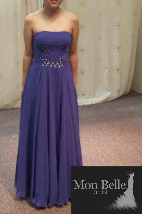 LL006 purple evening dress