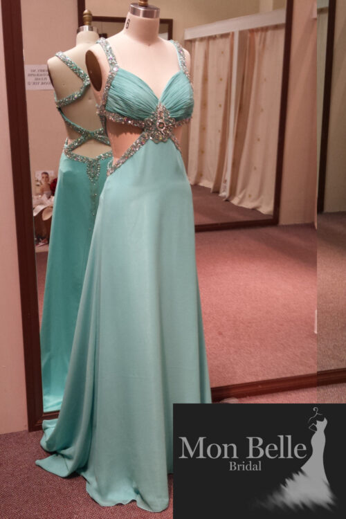 O2097 Spearmint evening dress