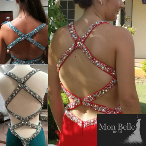 O2097 custom color criss cross back details