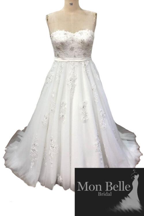LAKEISHA sweetheart neckline lace A-line wedding dress LL20882