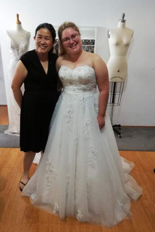 Lakeisha collection day with designer Lindsey, Mon Belle Bridal