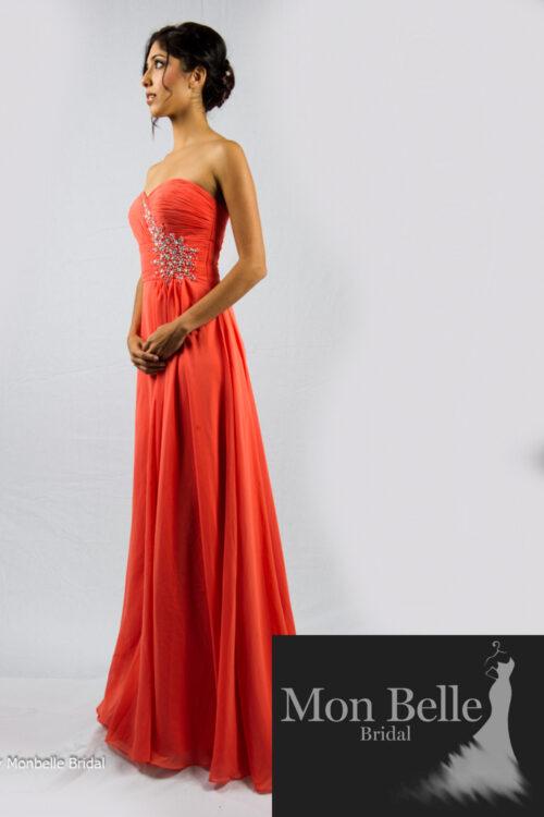 O2077 beaded motif bridesmaid dresses