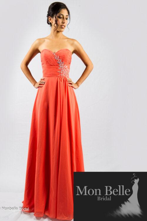 O2077 coral bridesmaid dresses