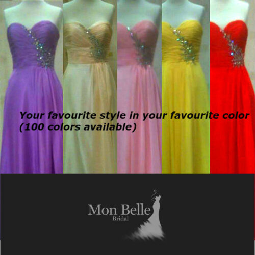 O2077 custom color bridesmaid evening dresses